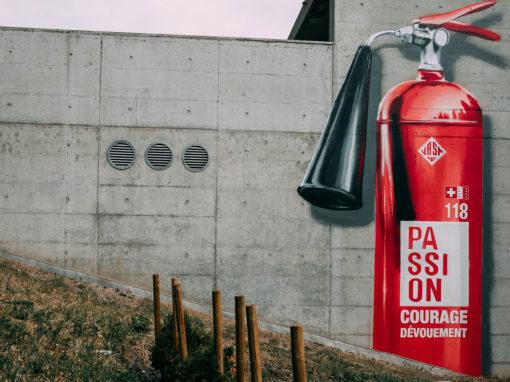 Extinguisher 3D – Fireman tribute – Crans Montana